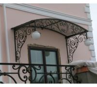 № 27. Козырек кованый, балконная решетка