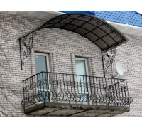 № 10. Козырек ажурный, кованый, решетка балконная