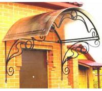 № 7. Козырек кованый с покрытием из поликарбоната