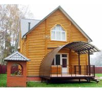 Навес для деревянного дома над крыльцом