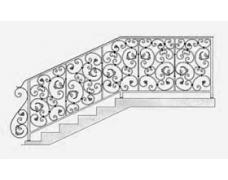 Перила лестничные,цена от 8000 тыс.руб. за кв.метр