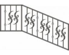 Перила лестничные(типовой эскиз № 2)