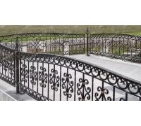 Кованая оградка тип 210. стоимость договорная от 5000 руб. м.п.