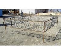 Кованая оградка 1 стоимость договорная от 5000 руб. м.п