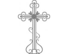 Крест кованый тип 003 (с основанием). от 10000 руб.