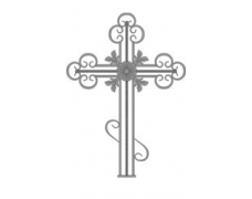 Крест кованый тип 002. (без основания) от 8000 руб.