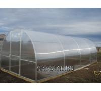 Готовая теплица длина 8 м. Поликарбонат прозрачный толщина 6 мм