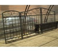 Ворота кованые для проема шириной 3.5 м