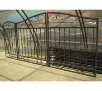 Ворота кованые для проема шириной 4.0 м