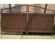 Ворота кованые с проф. листом для проема шириной 3.0 м