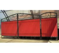 Ворота кованые с проф. листом для проема шириной 4.0 м