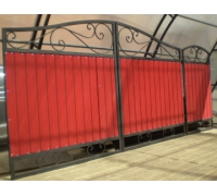 Ворота кованые с проф. листом для проема шириной 3.5 м