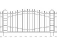 Забор кованый 7