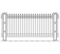 Забор кованый 3