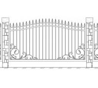 Забор кованый 1