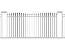 Забор кованый 4