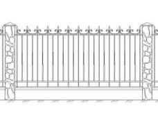 Забор кованый 5