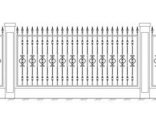 Забор кованый 2